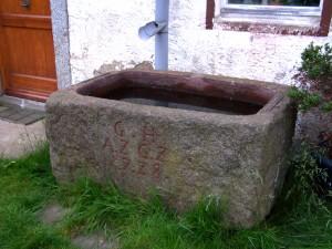 Stone water trough, Plotzen